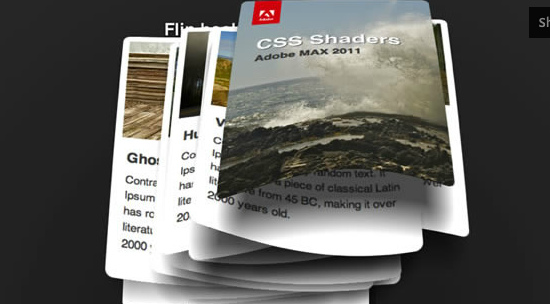 CSS shaders Cinematic effects for the web